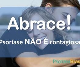 abrace a psoriase não é contagiosa 1